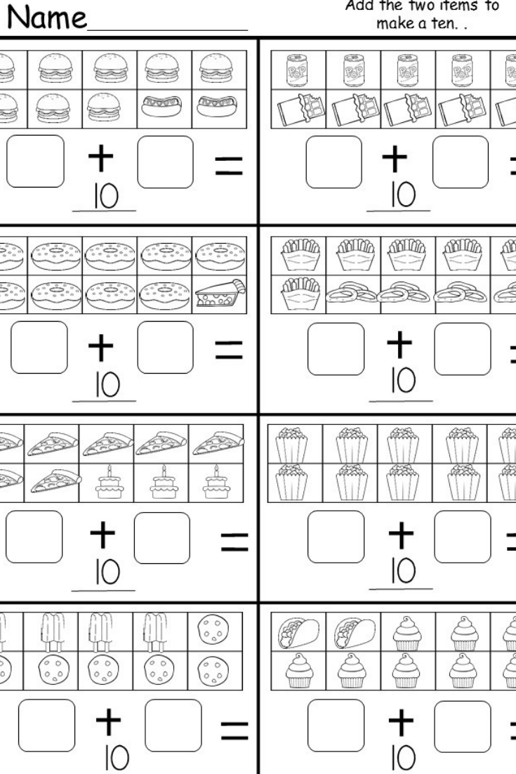 Free Addition Worksheet | Kindergarten Math | Addition Worksheets