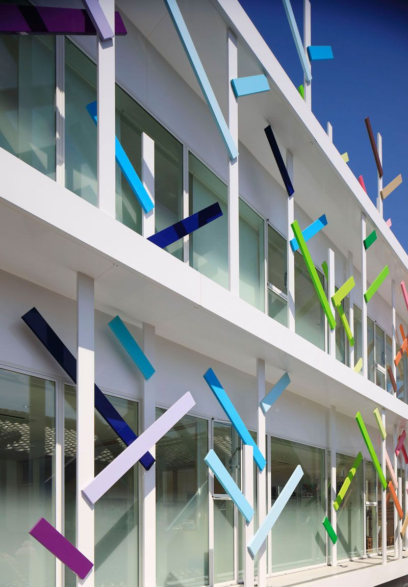 """Colorful """"branches"""" Cover This New Kindergarten Building In Japan"""