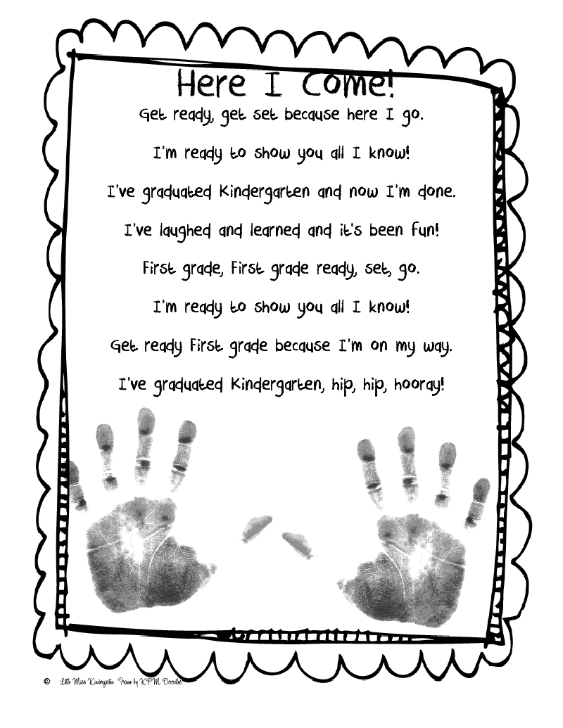 End Of The Year Kindergarten Poem! I Will Have To Do This In A Few