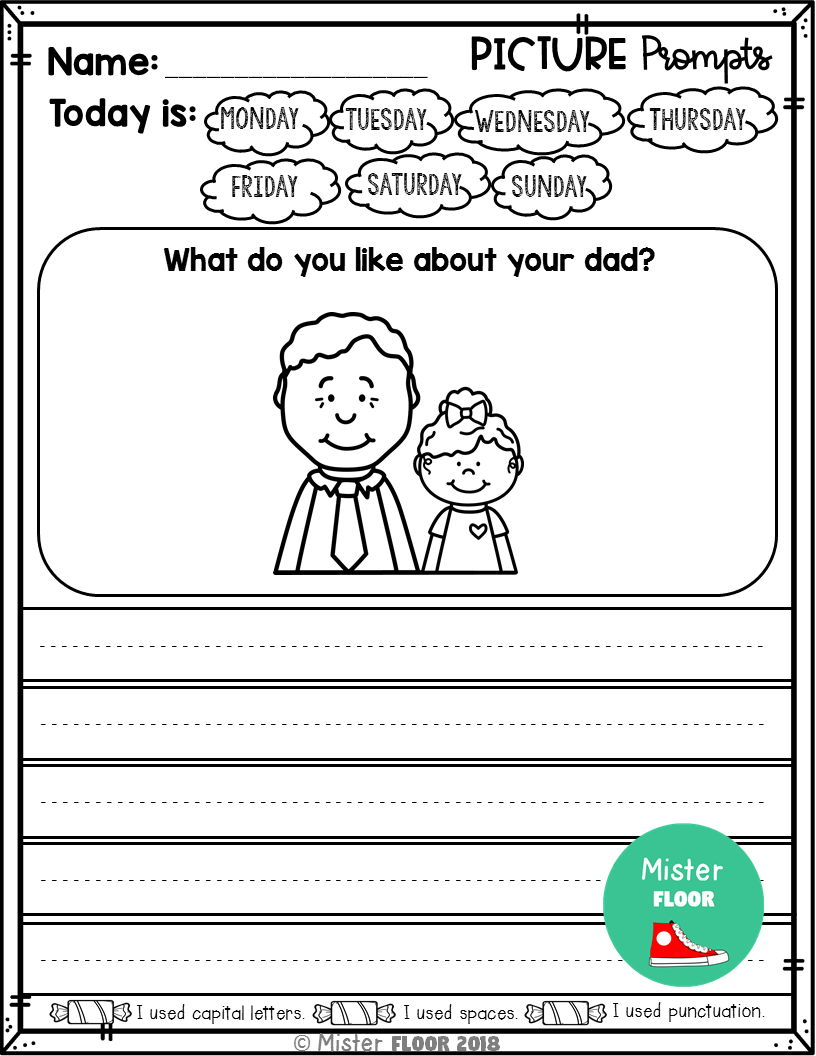 Kindergarten Writing Prompts: Opinion Writing & Picture Prompts