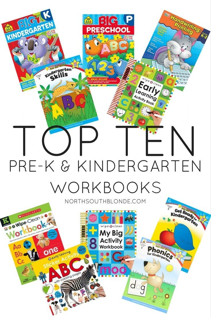 The Top Ten Preschool And Kindergarten Workbooks | Prek
