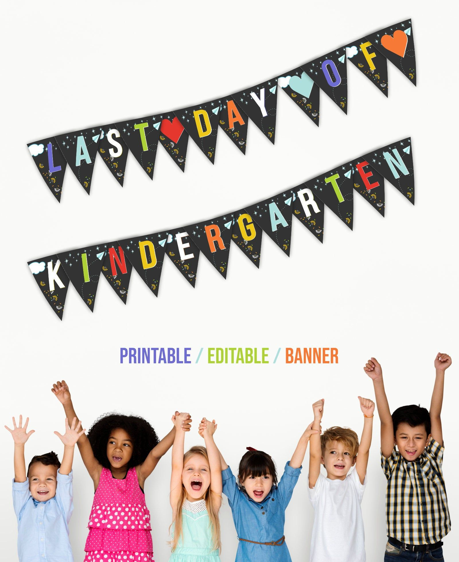 Last Day Of Kindergarten Printable Banner Mini-mall