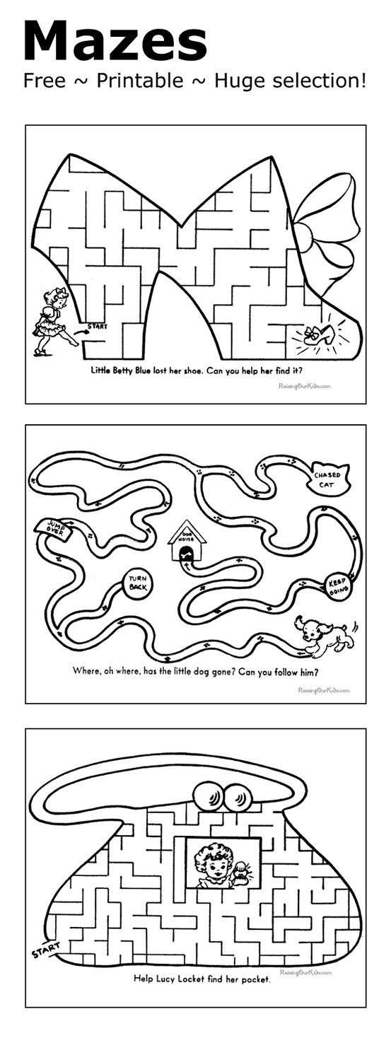 Mazes For Kids - Printable And Free! | Kindergarten | Mazes For Kids