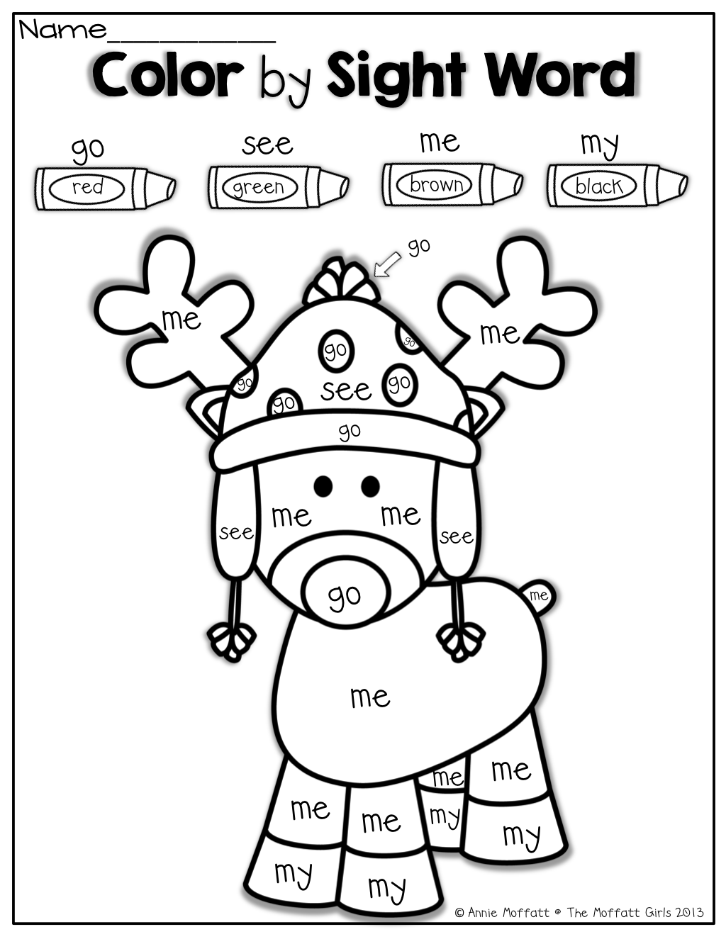 December No Prep Packet (kindergarten) | Sight Words | Kindergarten