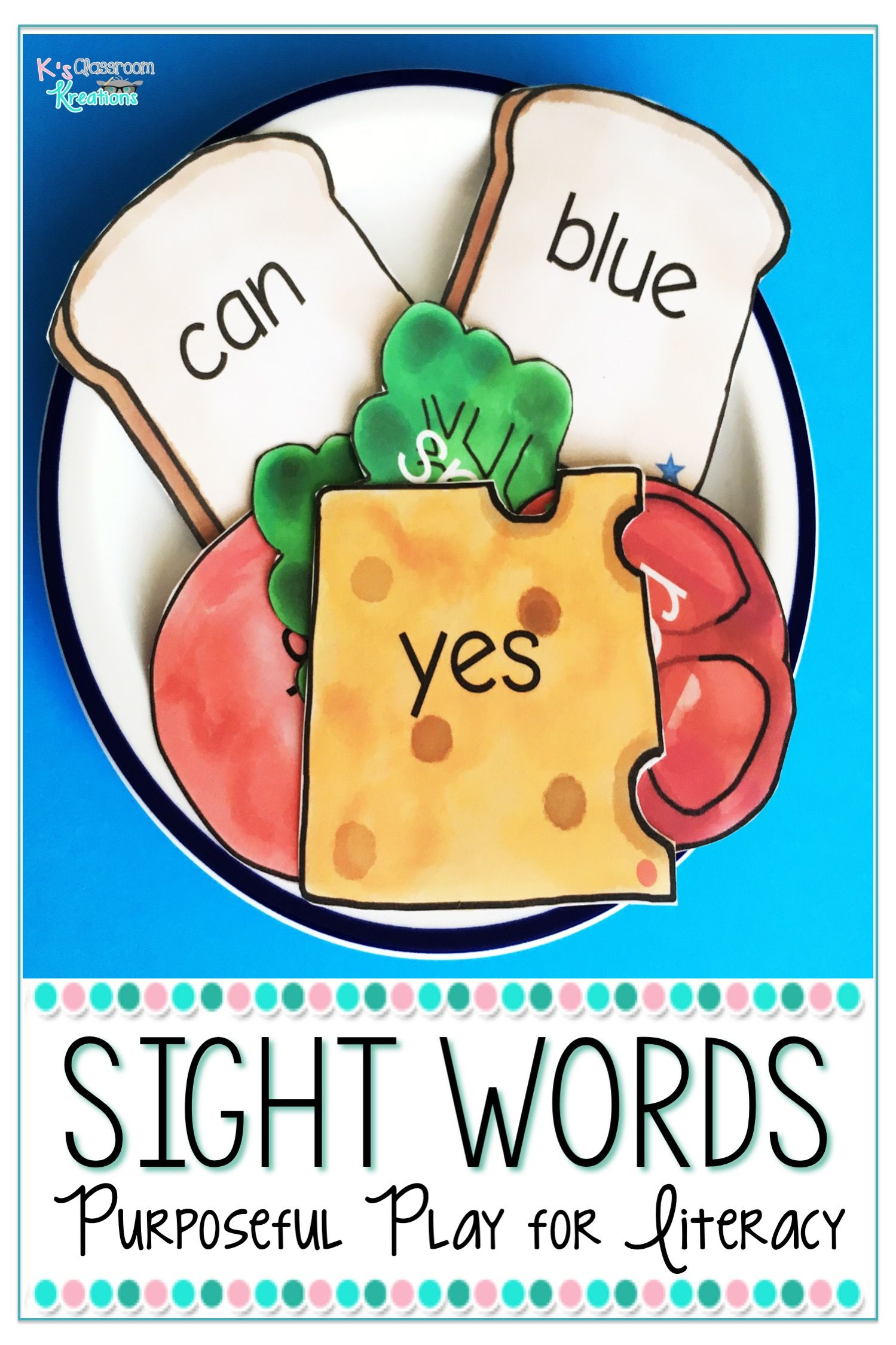 Kindergarten Sight Word Center | K's Classroom Kreations