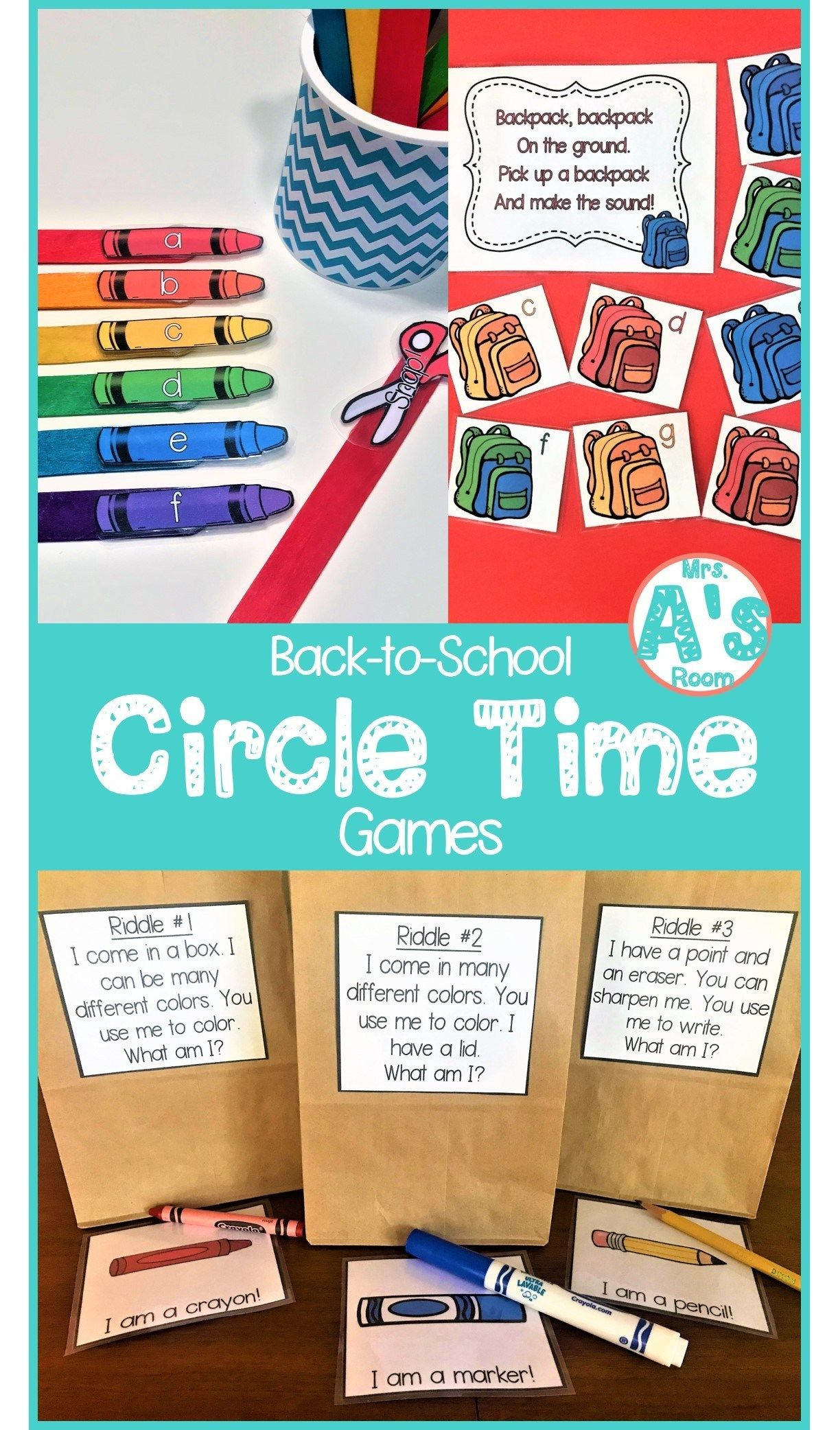 Circle Time Games For Back-to-school   Kindergarten   Circle Time