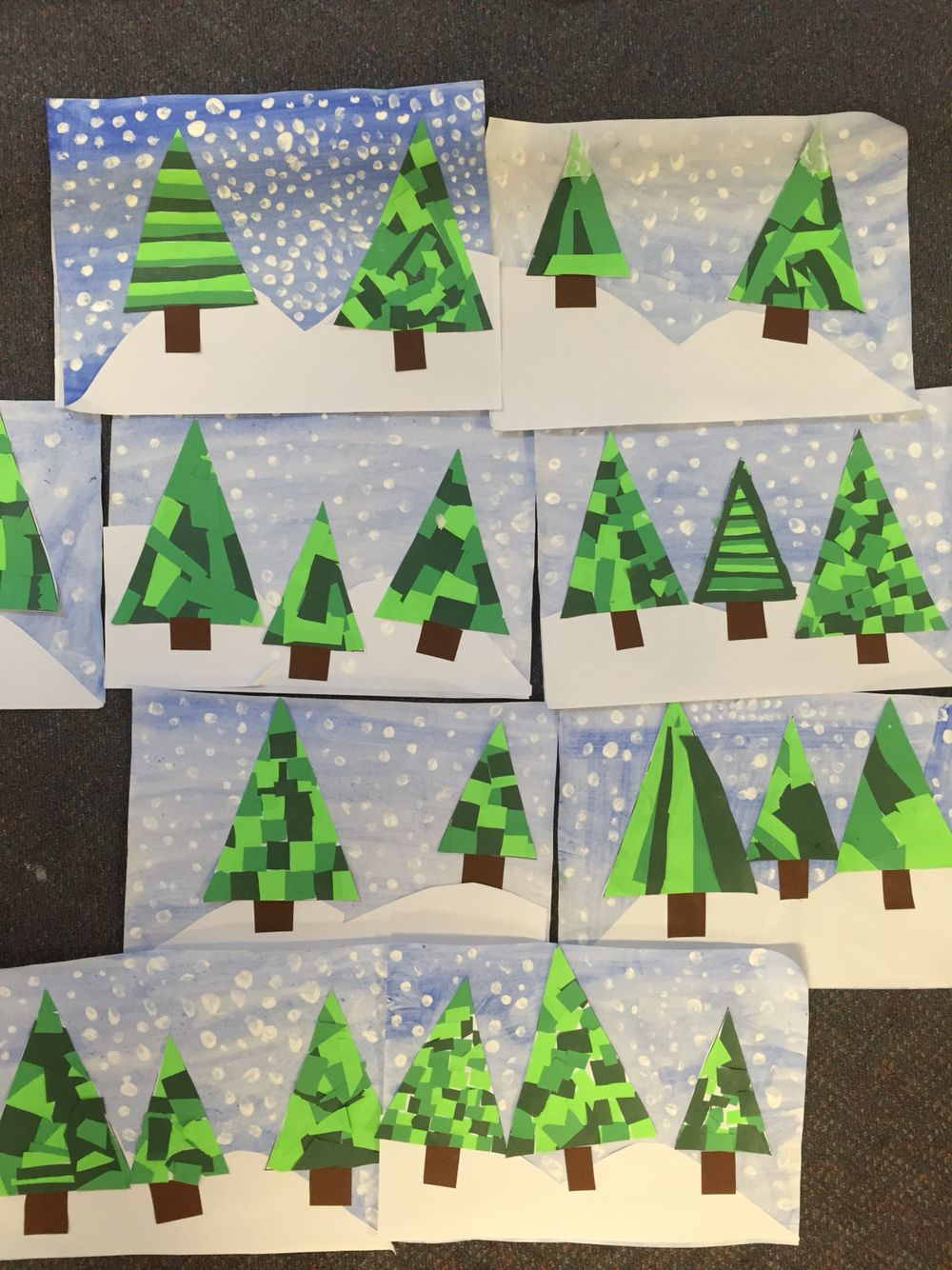 Christmas Trees/winter | Kindergarten Ideas | Christmas Crafts For