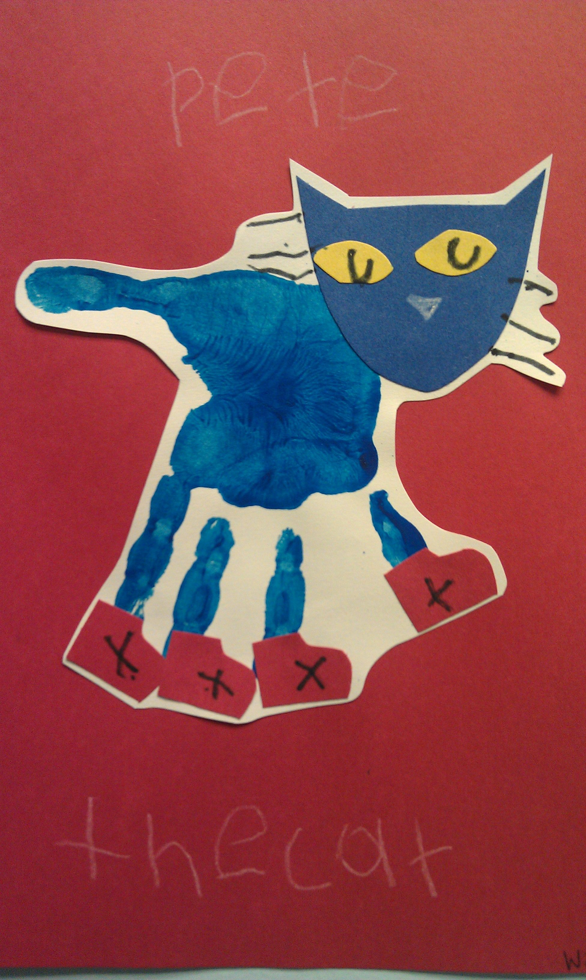 Kindergarten Infusion Lesson? Pete The Cat Handprint Could Use As A