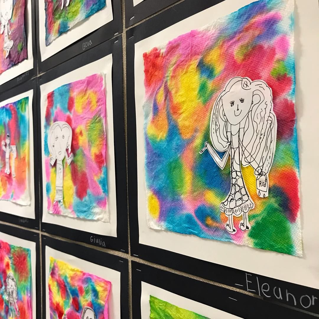 "Kindergarten ""i Am An Artist"" Self-portraits The Background Is A"