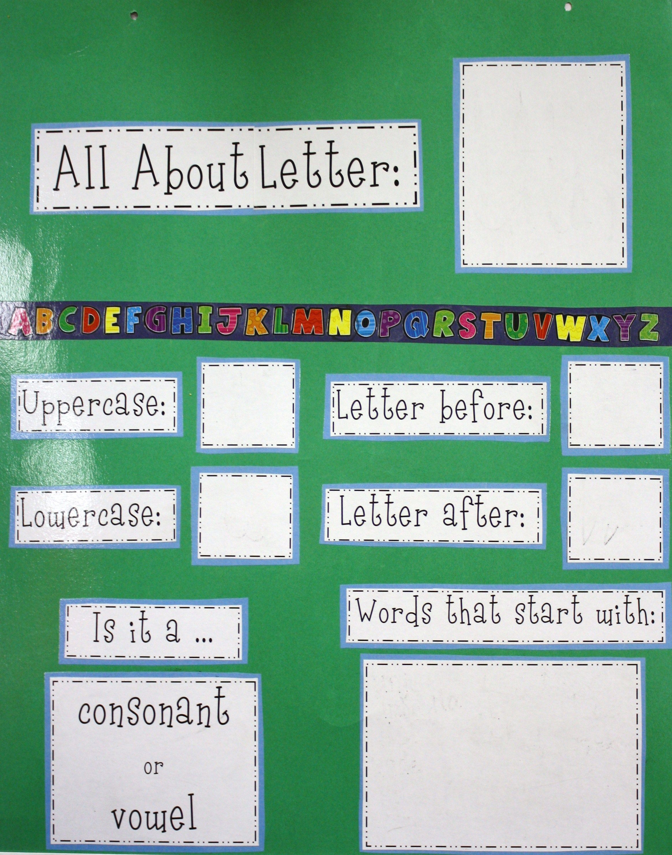 Language Arts Posters   All About Letter Poster   Kindergarten