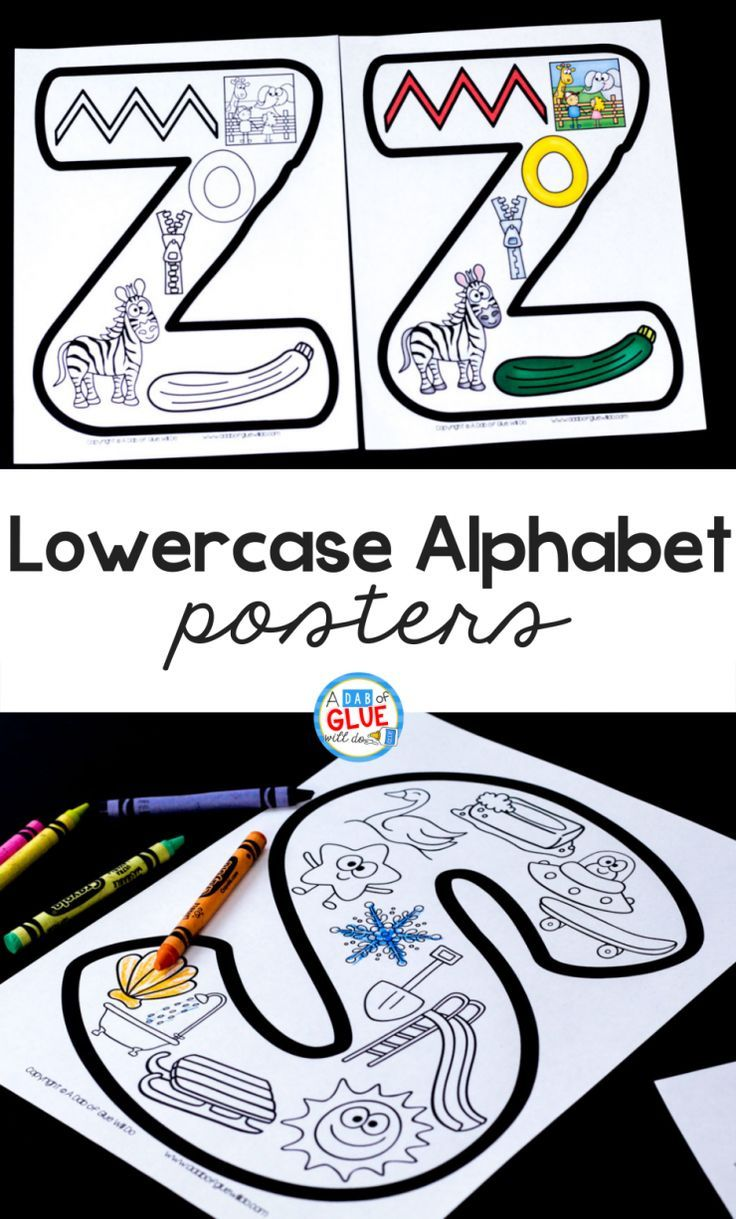 Lowercase Alphabet Posters | Print Off | Kindergarten Literacy