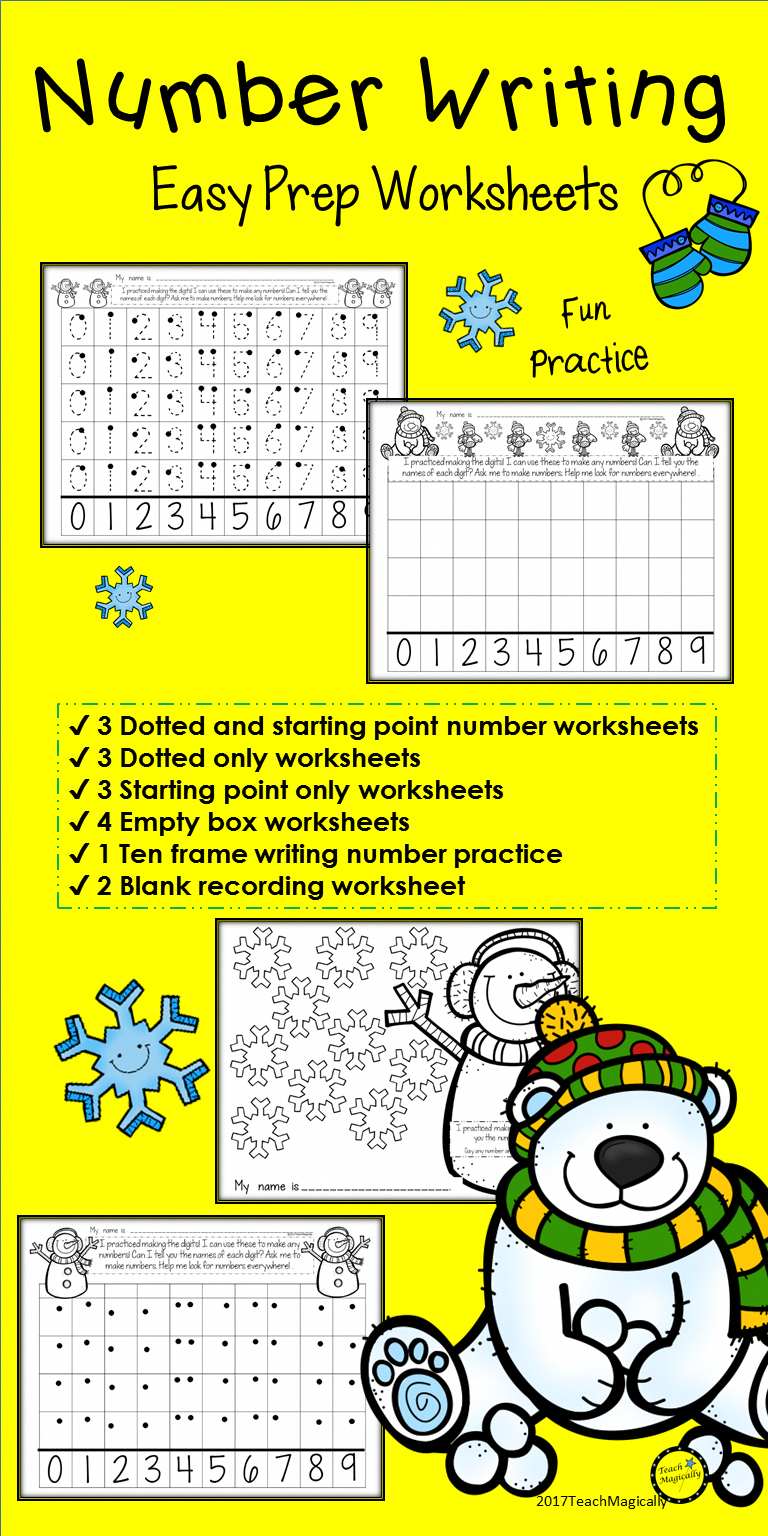 Fun Number Writing Practice Worksheets Perfect For Kindergarten And