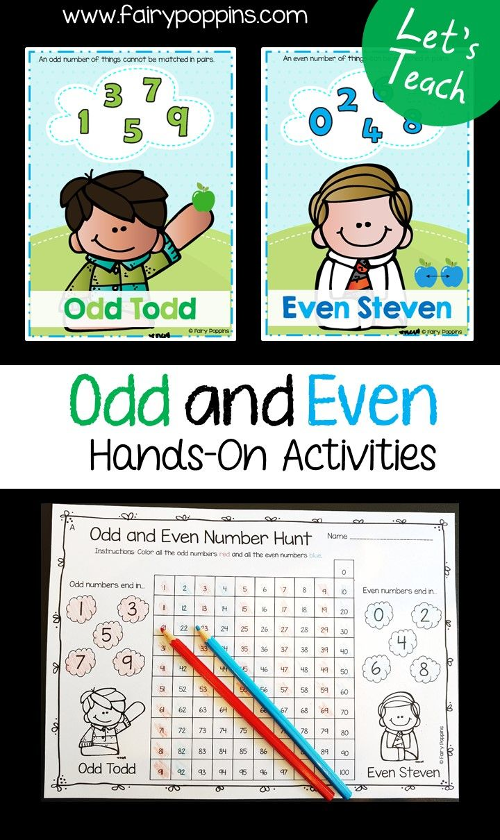 Odd And Even Numbers | Primary Teaching | Kindergarten Math