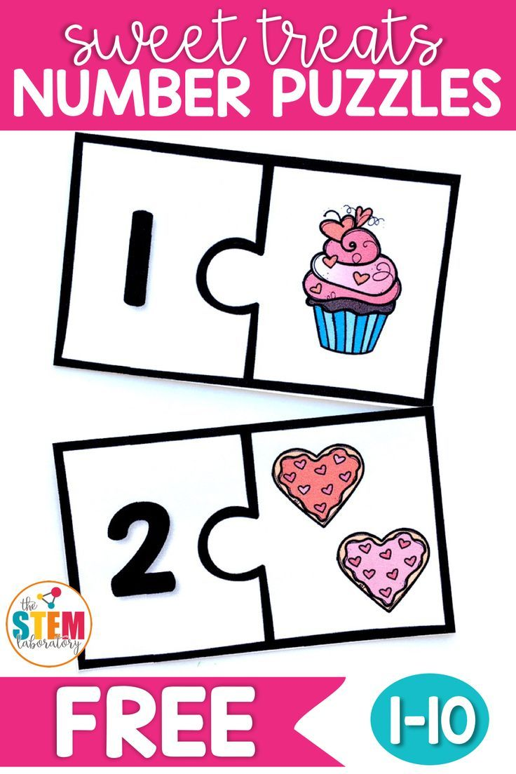 Sweet Treats Number Puzzles | All Things Kindergarten Math