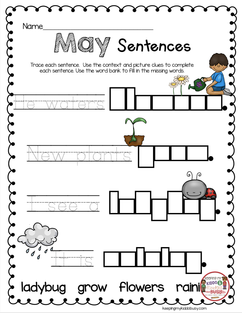 May In Kindergarten - Freebies | Reading Resources For Kindergarten
