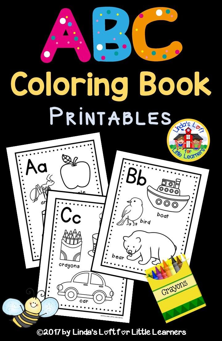 Abc Coloring Book Printables | Kindergarten And Pre-k Teaching Ideas