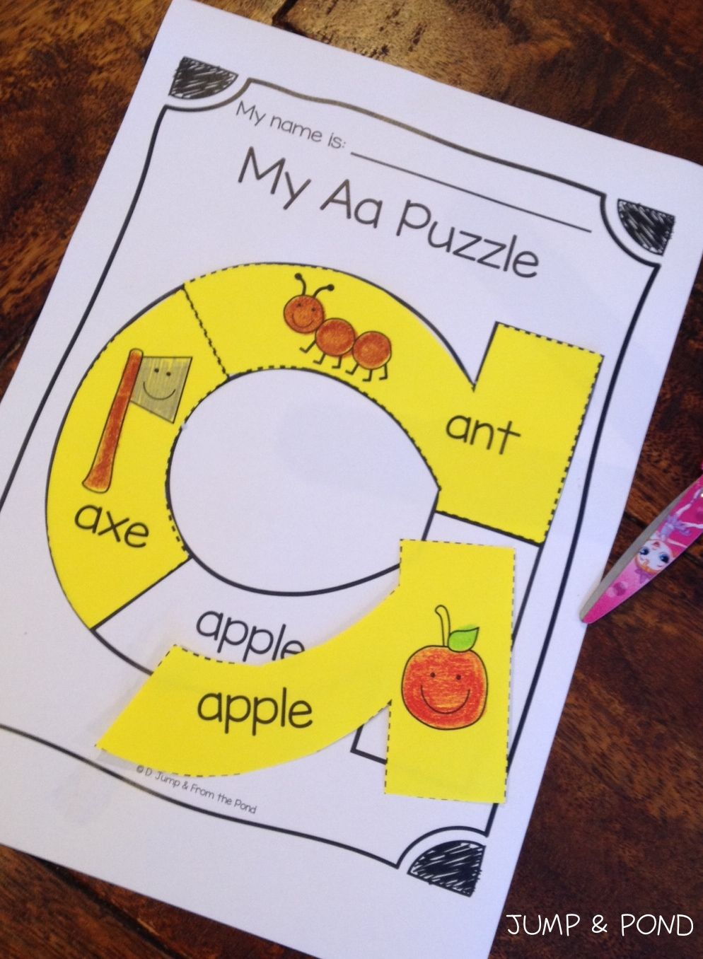 Alphabet Puzzle Worksheets $ | Classroom Ideas | Kindergarten