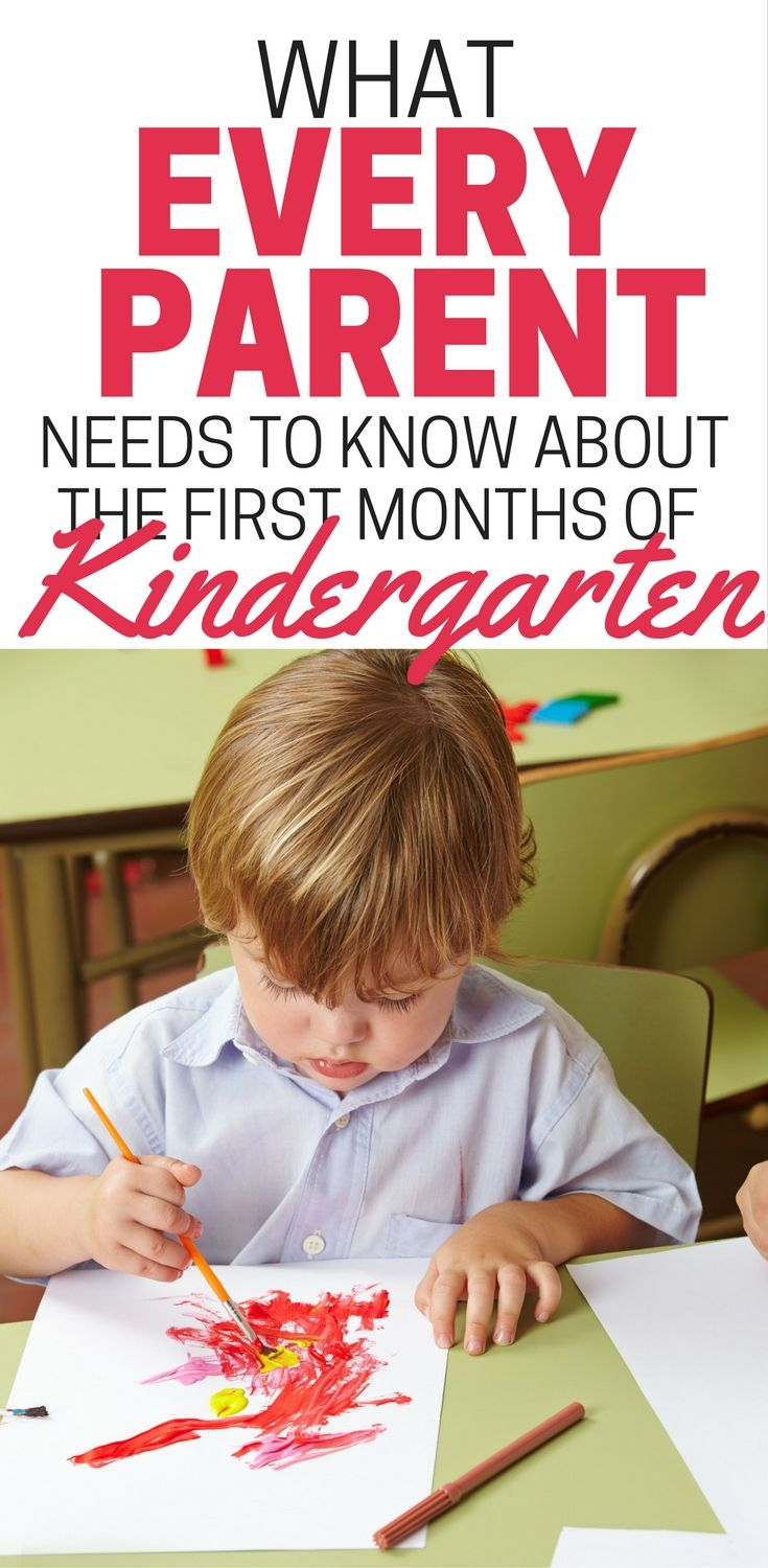 What To Expect After The First Days Of Kindergarten | Back