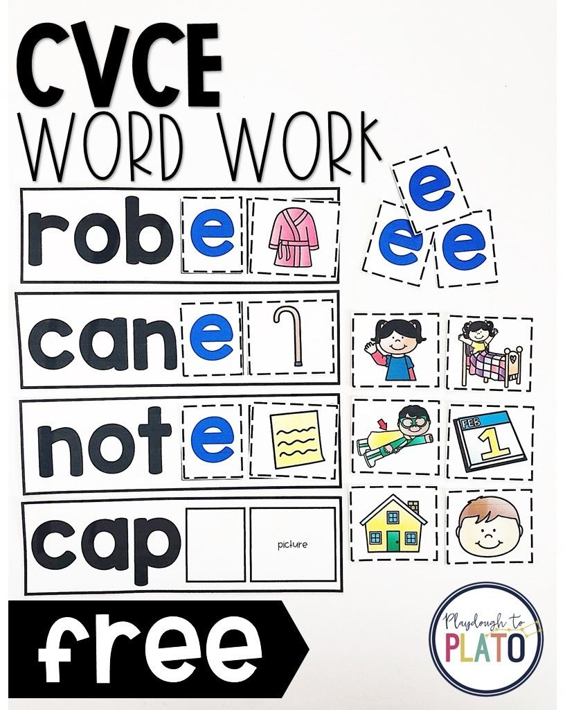 Cvce Word Work | Kindergarten Activities | Cvce Words