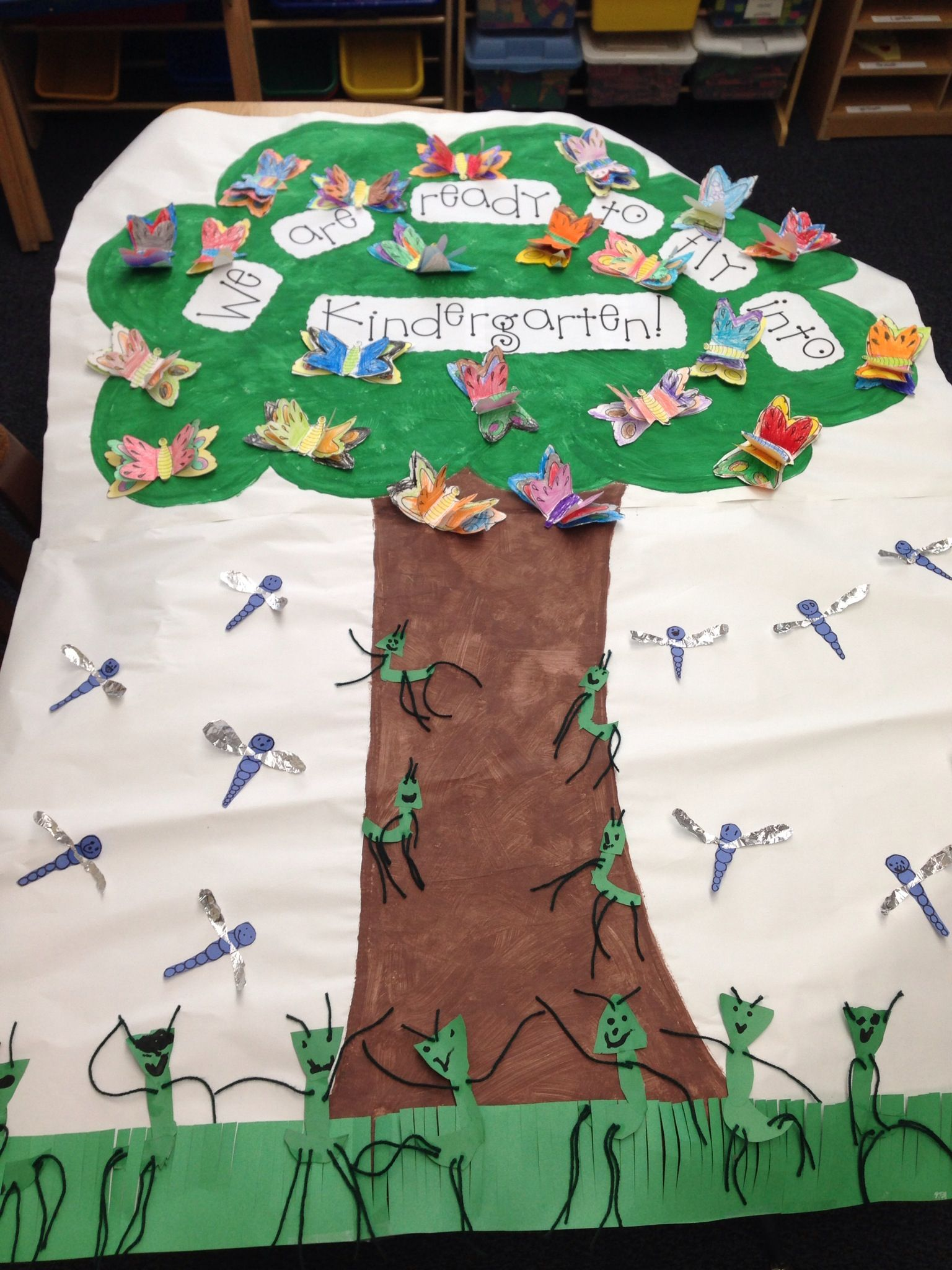 Transitional Kindergarten End Of The Year Art Project Tree