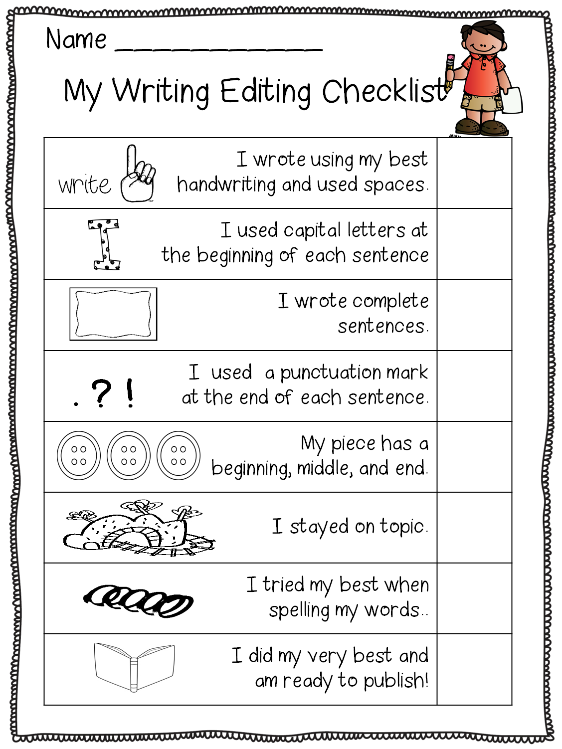Free Editing Set! For Kindergarten, I Use It To Show What
