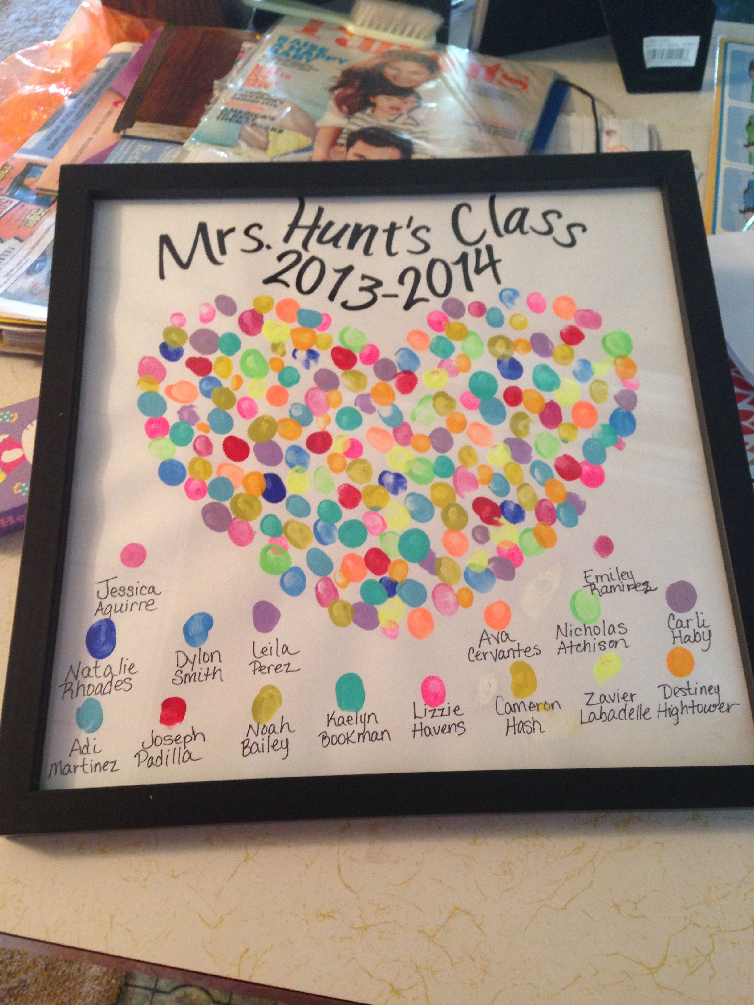 End Of The Year Gift For My Daughter's Kindergarten Teacher