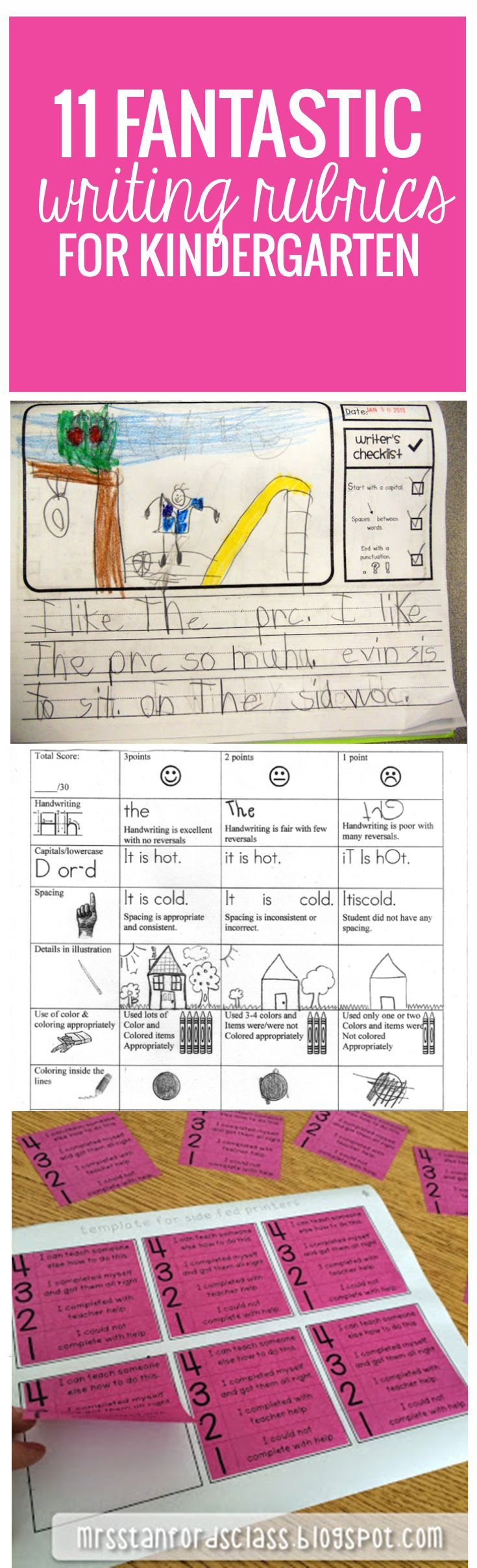 11 Fantastic Writing Rubrics For Kindergarten | Miss