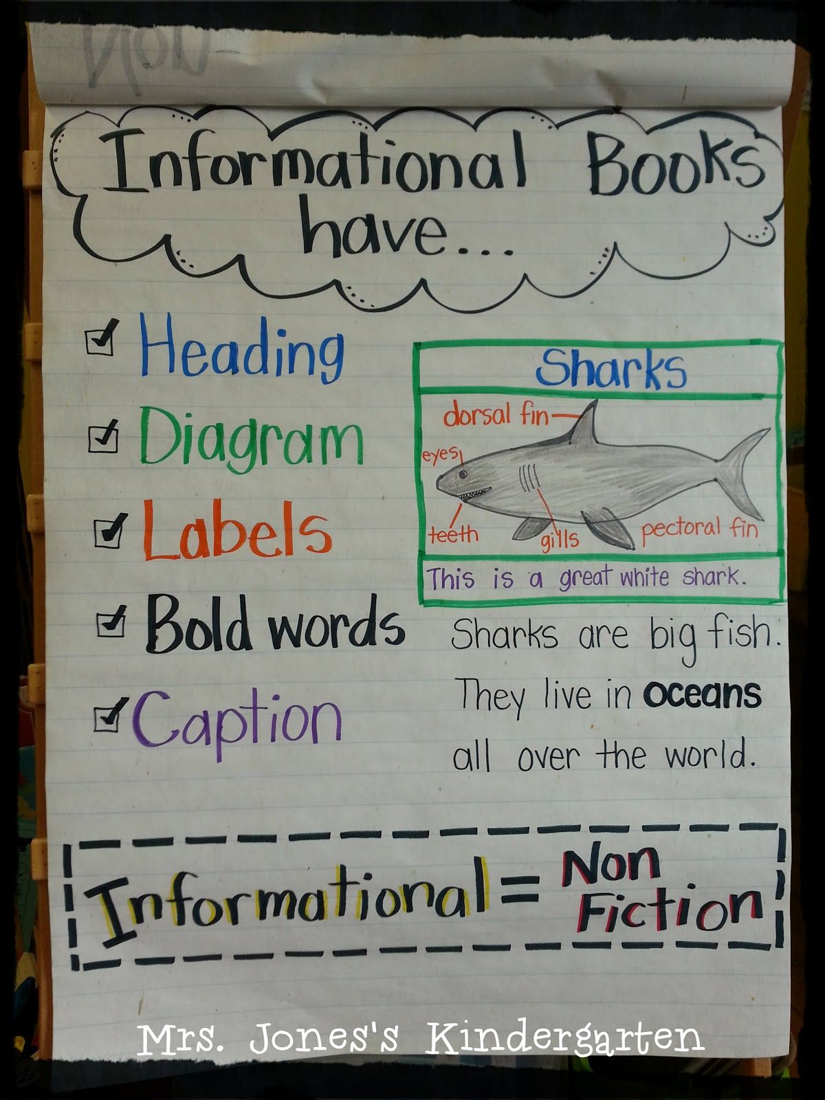 Anchor Charts For Kindergarten | Mrs Jones's Kindergarten