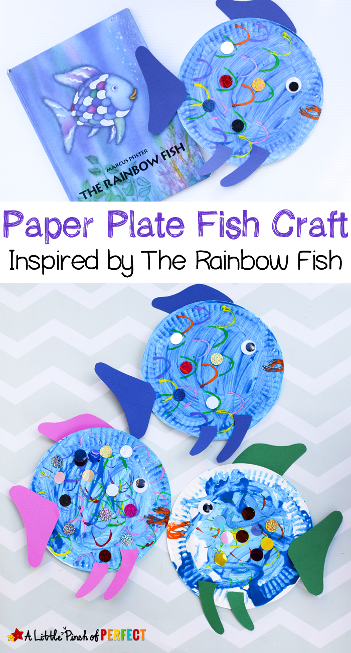 Paper Plate Fish Craft Inspired By The Rainbow Fish | Kindergarten