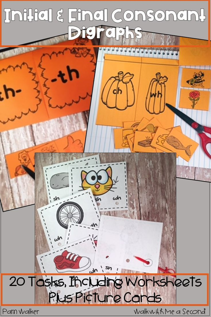 Consonant Digraphs - Initial And Final   Kindergarten All