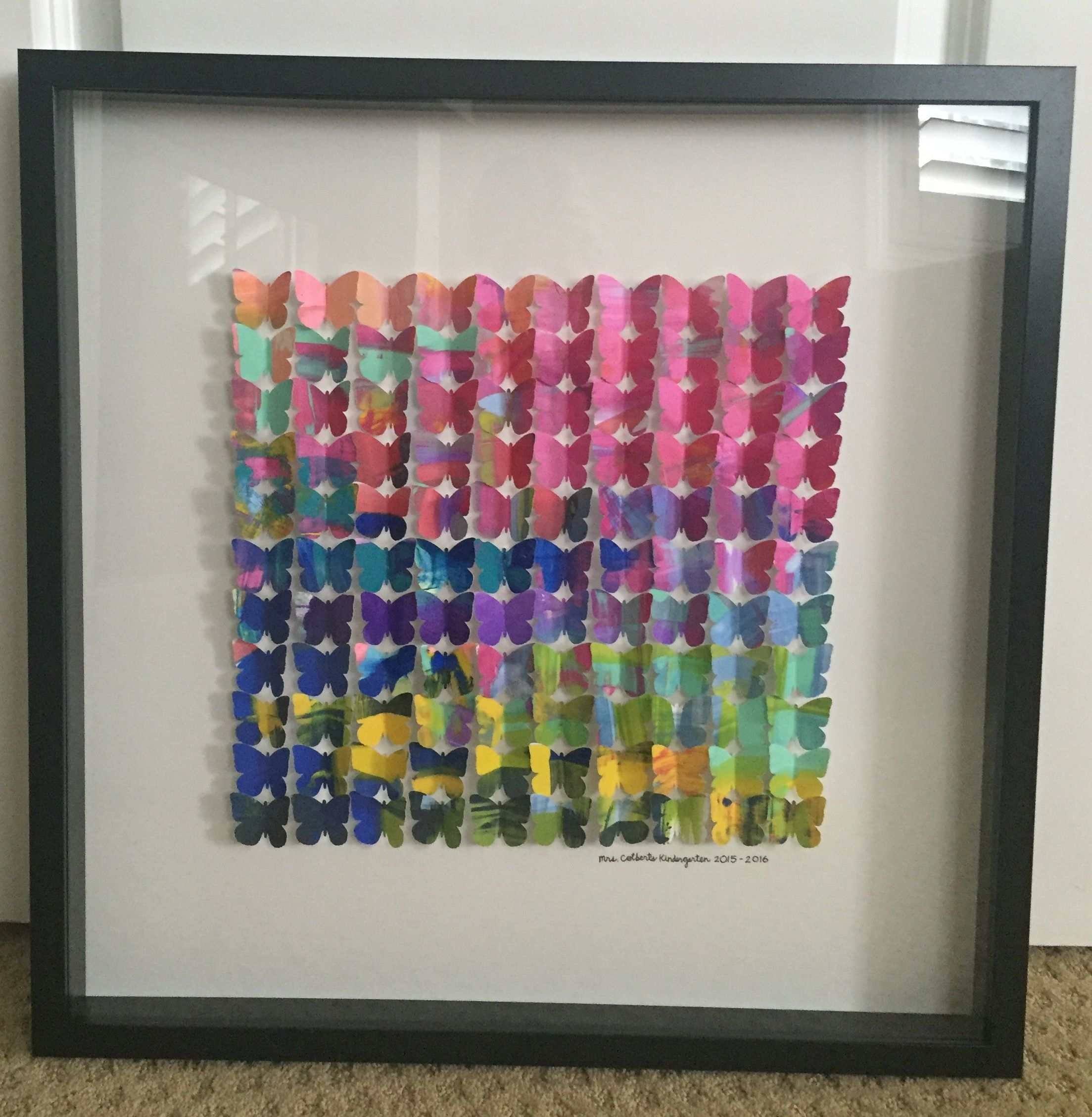 Our Kindergarten Class Art Project For Our School Auction