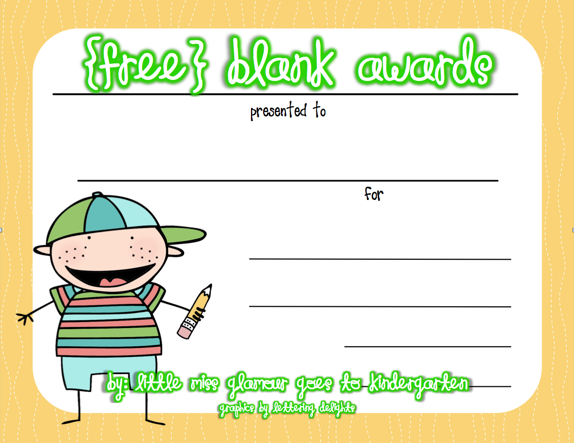 Free Certificates Great For End Of The Year, Kindergarten