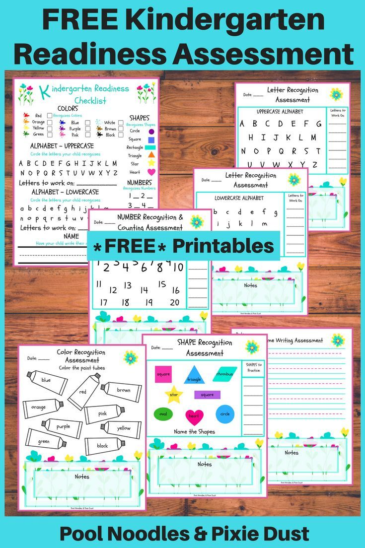 Free Printable Kindergarten Readiness Assessment | Theme Units For