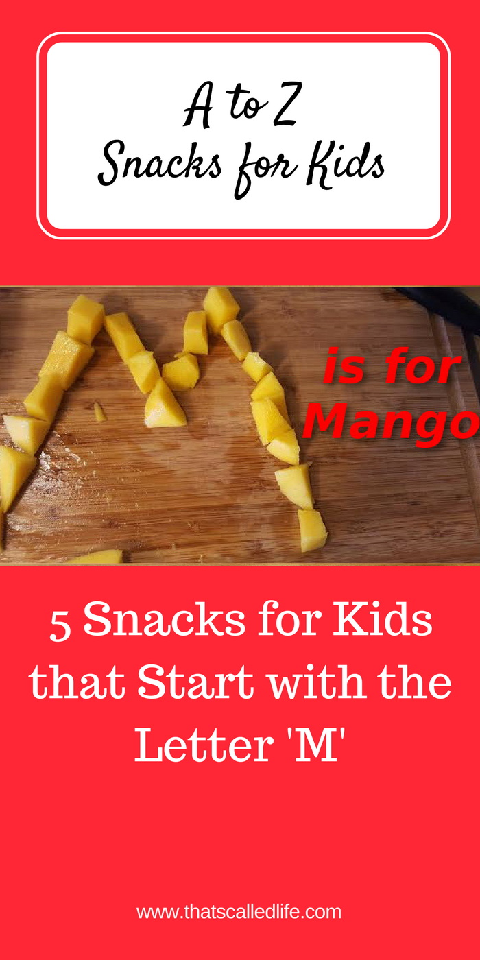 Preschool Or Kindergarten Snacks For Kids That Start With