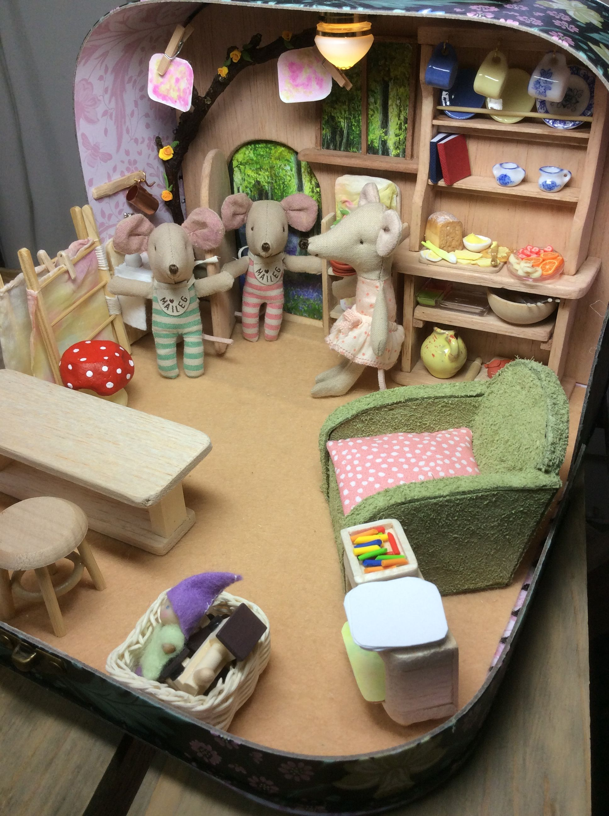 The Waldorf Mouse Kindergarten Suitcase Diorama