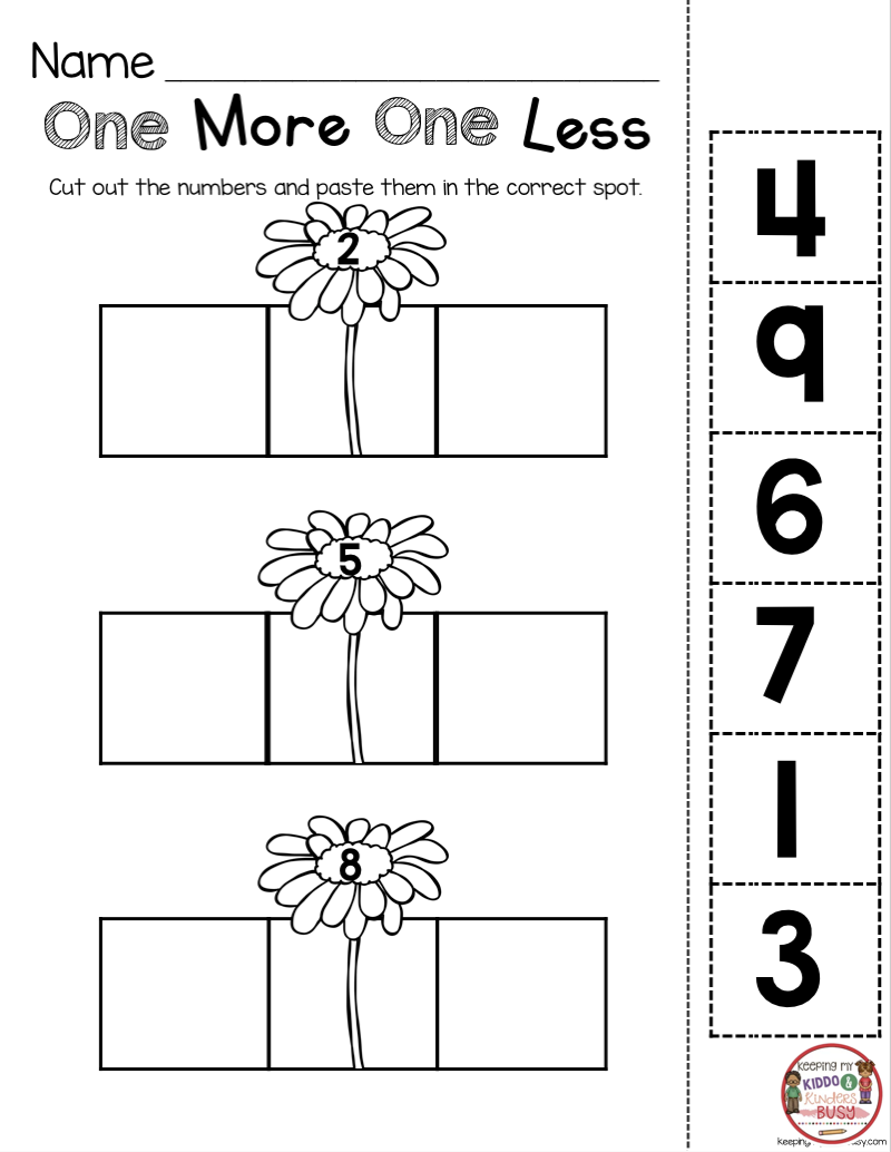 May In Kindergarten - Freebies | Education-math
