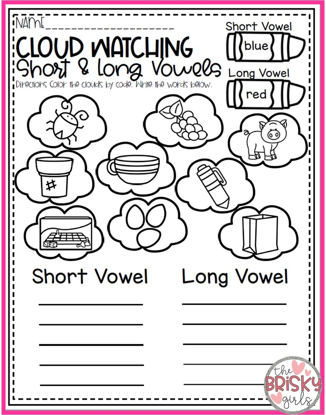 Spring Kindergarten Activity Pack | The Brisky Girls Products