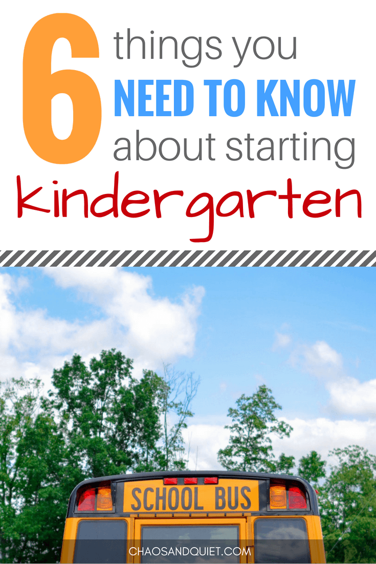 6 Things You Need To Know About Starting Kindergarten