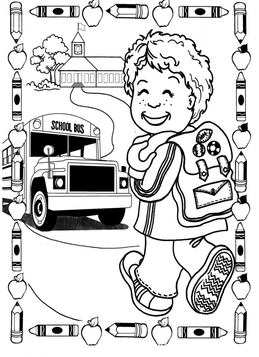 Kindergarten Coloring Pages And Worksheets | Coloring