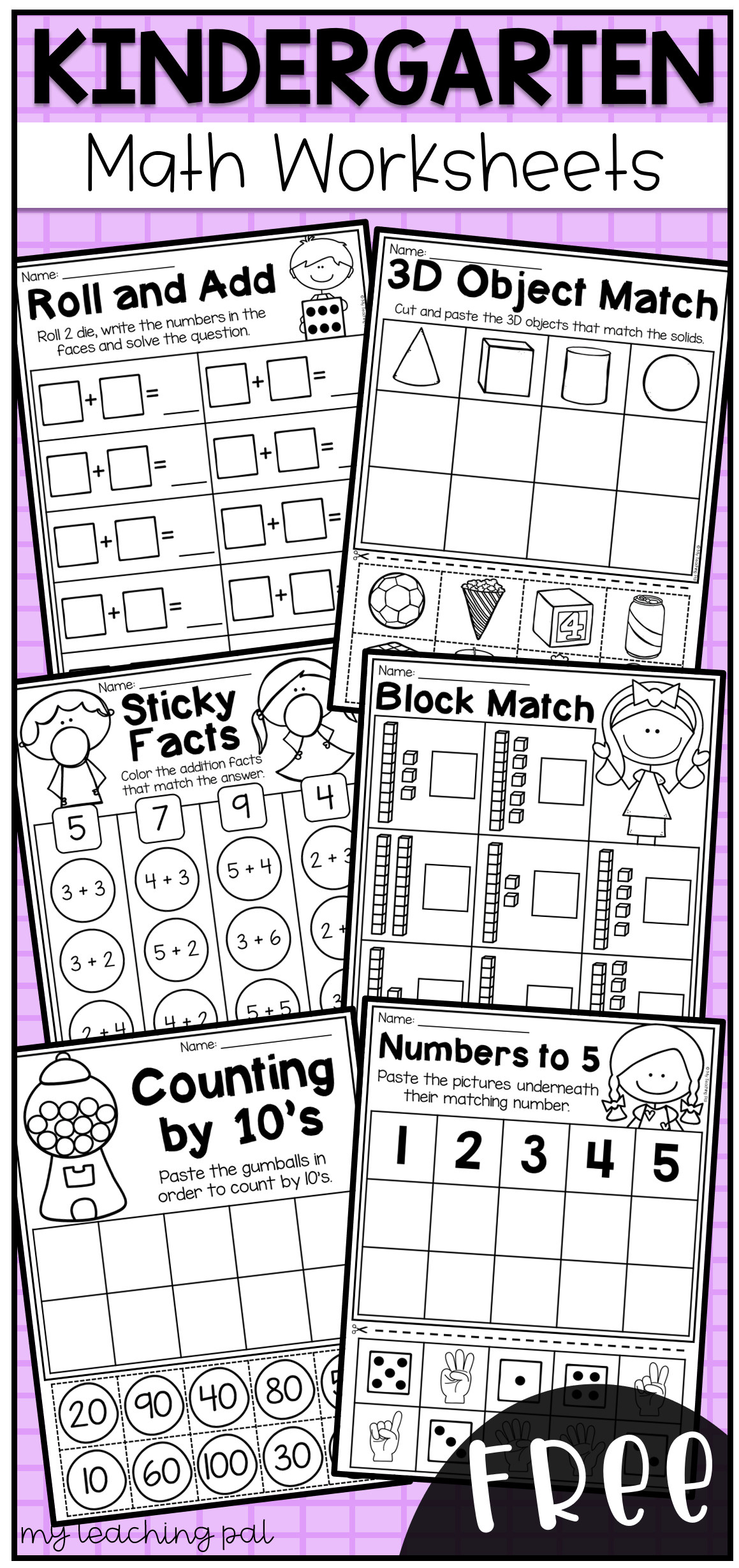 Free Kindergarten Math Worksheets | Homeschool