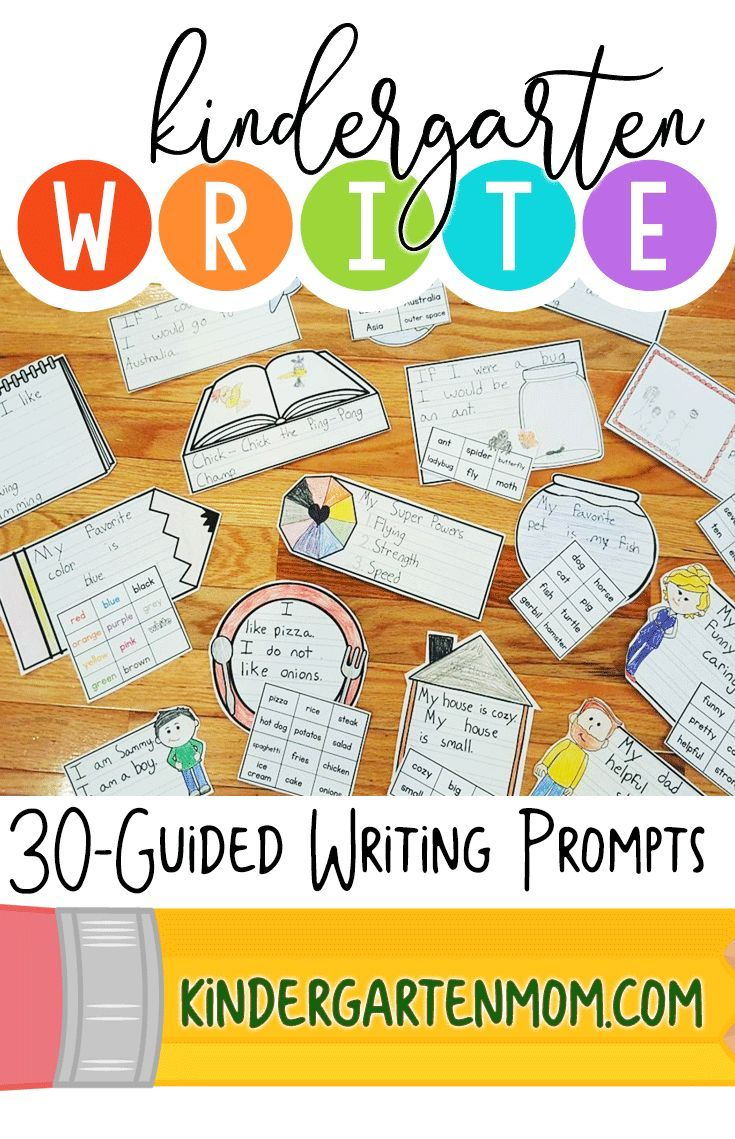 Write: Kindergarten Writing Prompts | Learning To Write In