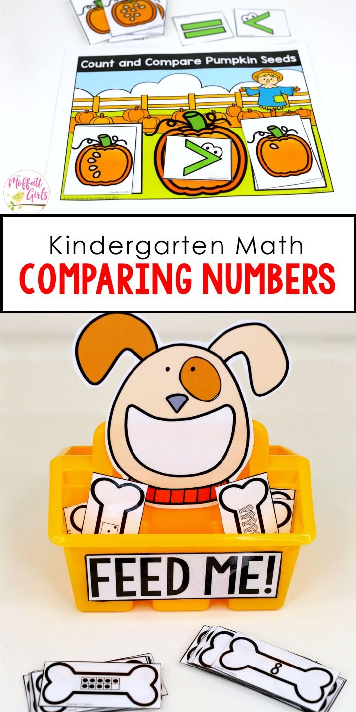 Kindergarten Math: Comparing Numbers | Matemã¡tica, Terapia E