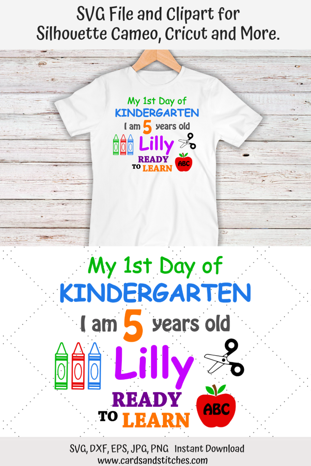 This Kindergarten Svg File And Clipart Is Perfect For Any