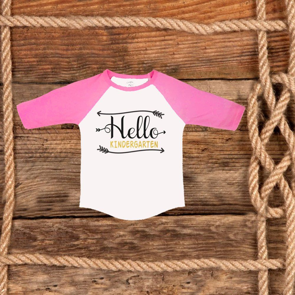 Hello Kindergarten Shirt Personalized 1st Day Of