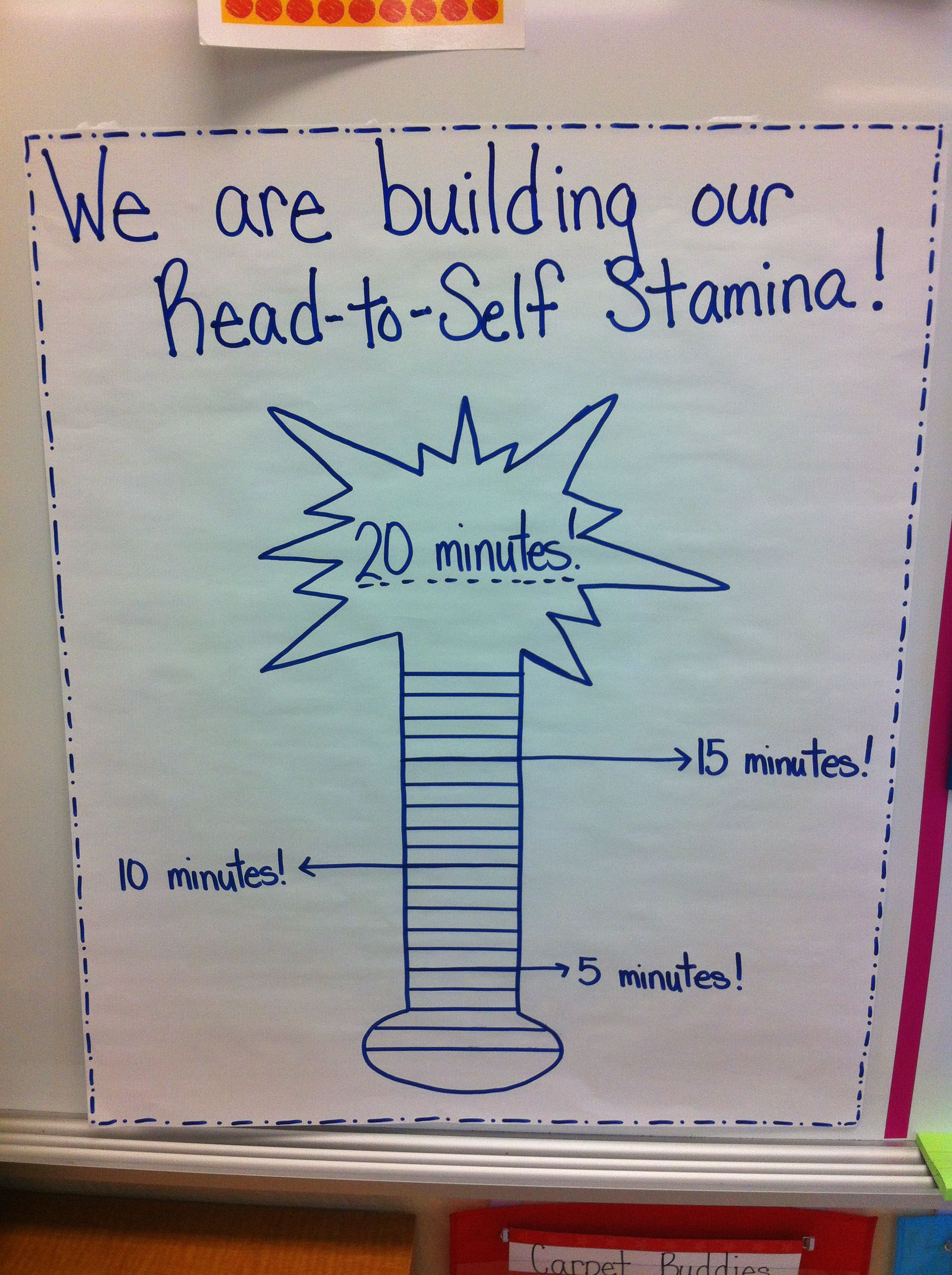 We Are Building Our Read To Self Stamina In Kindergarten