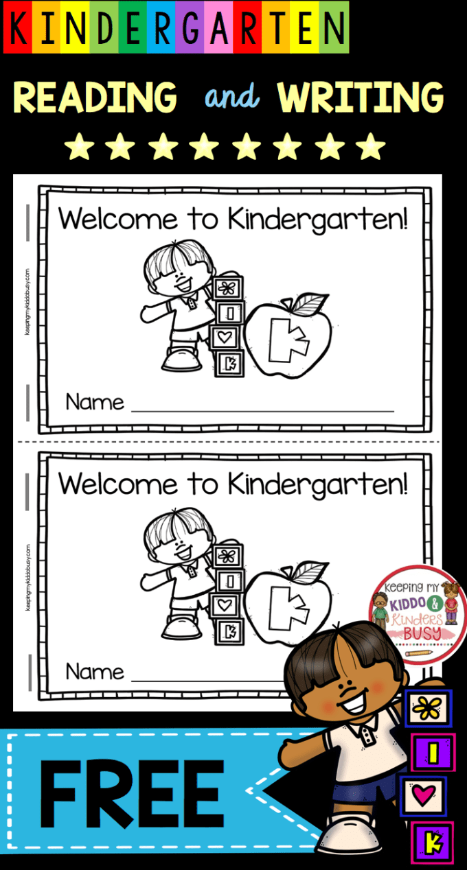 Reading And Writing - Back To School In Kindergarten - Free