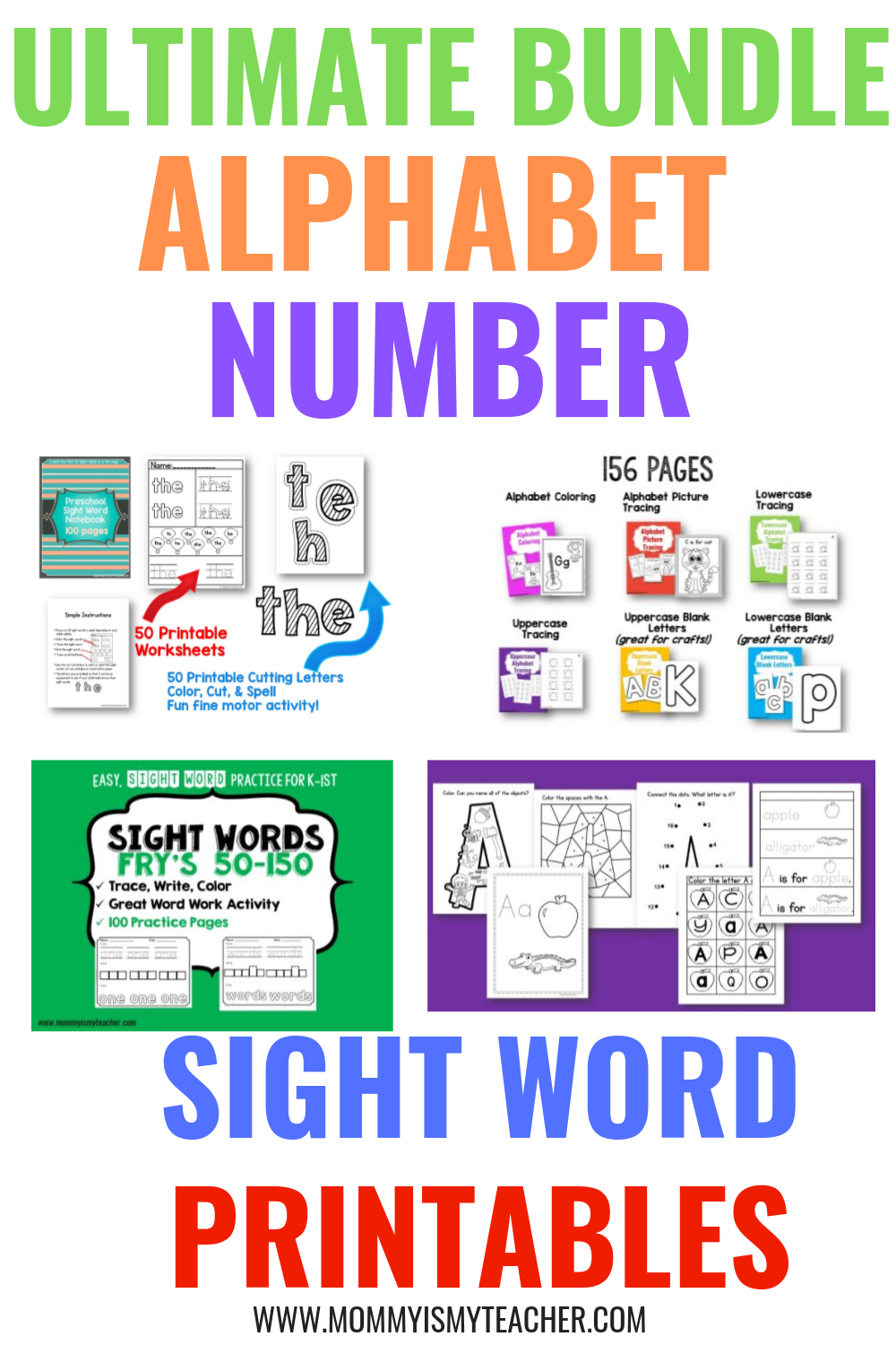 I Love These Kindergarten Printables! They Have Alphabet
