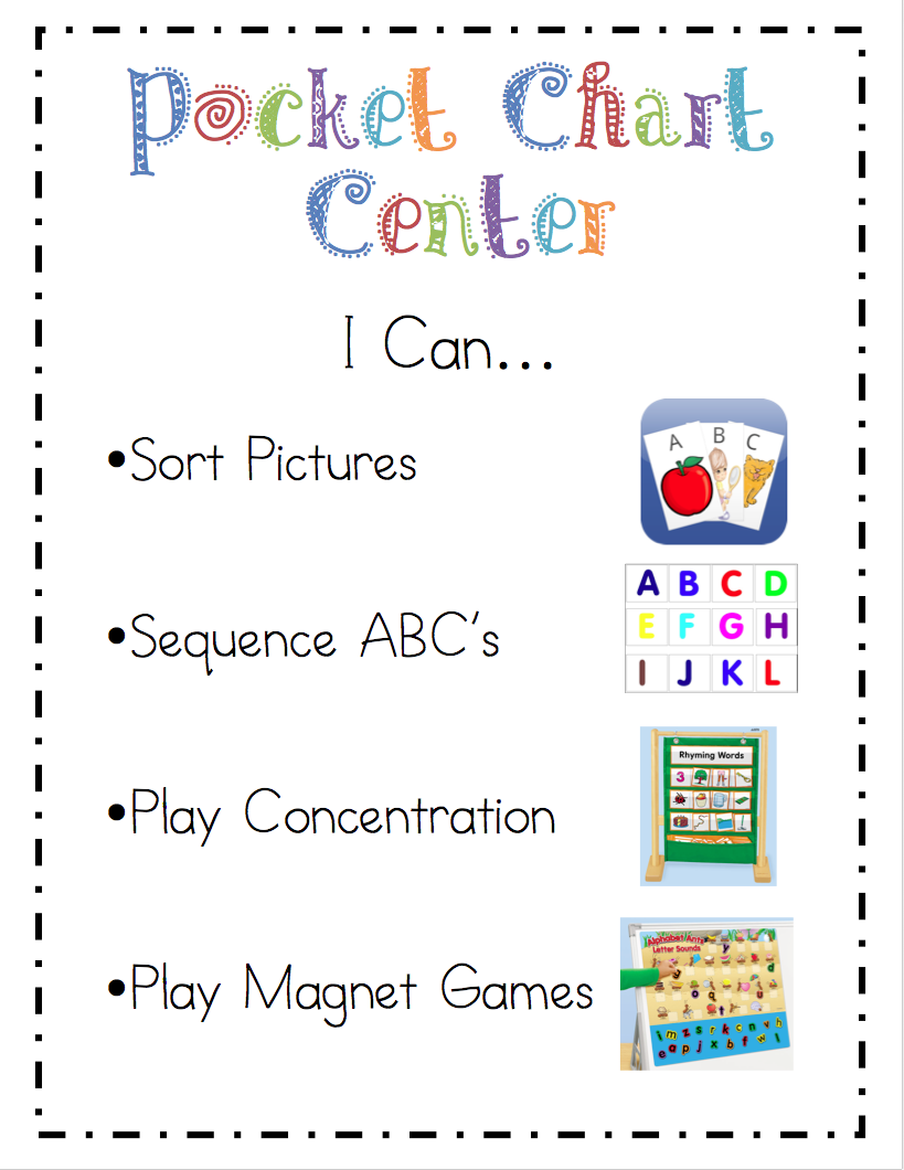 "Mrs Ricca's Kindergarten: Literacy Center ""i Can"" Cards"