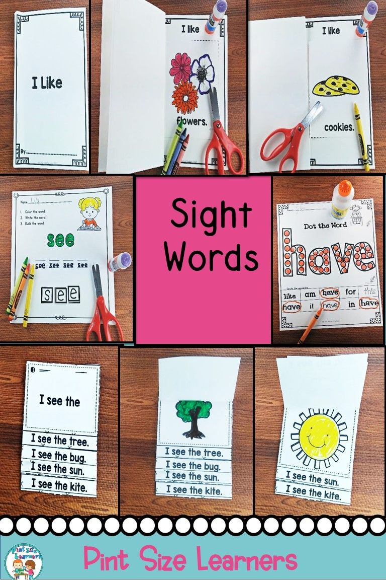 Sight Words Practice For Kindergarten No Prep | *pint Size