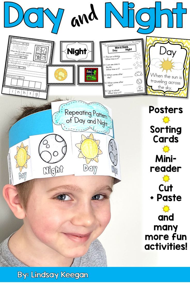 Day And Night | Work | Kindergarten Science, Science Worksheets